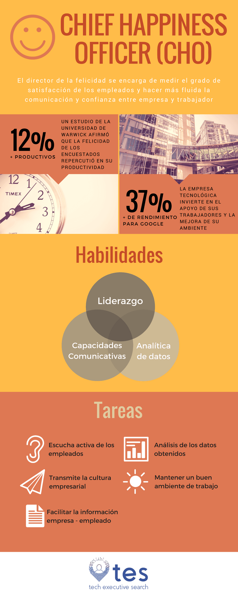 Infografia del chief happiness officer